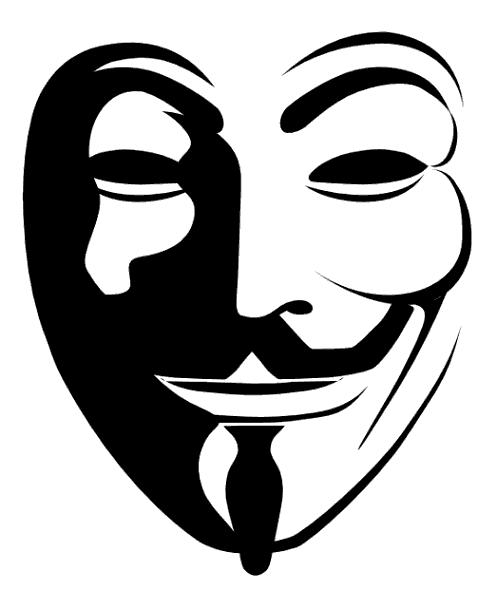 V For Vendetta Mask Stencil Kettling WikiLeaks