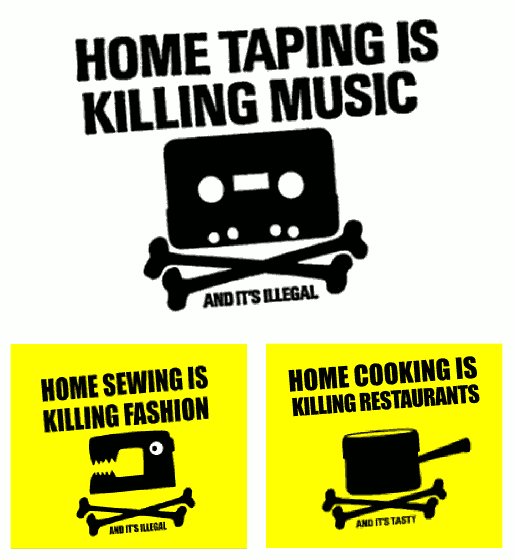 campaña 'Home taping is killing music' y algunas parodias