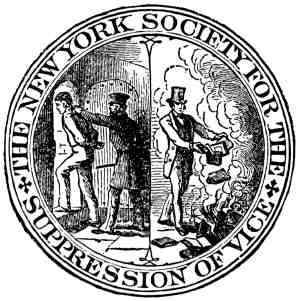 logotipo de 'New York Society For The Suppression Of Vice'