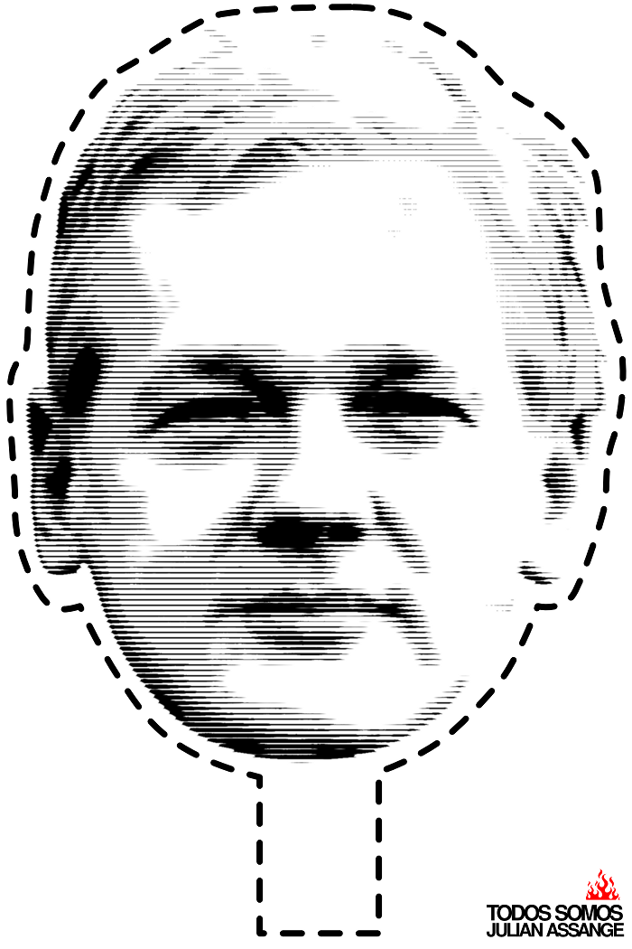 [Julian Assange Mask]